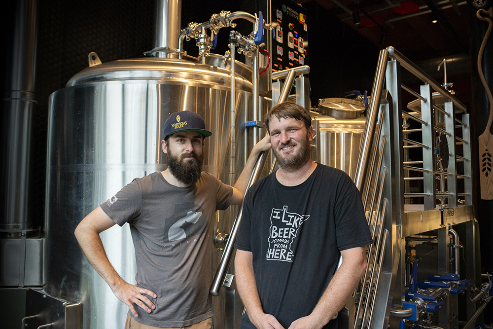 Birch's Lowertown head brewer Dave Wiessner and Birch's co-owner Brennan Greene // Photo by Aaron Job