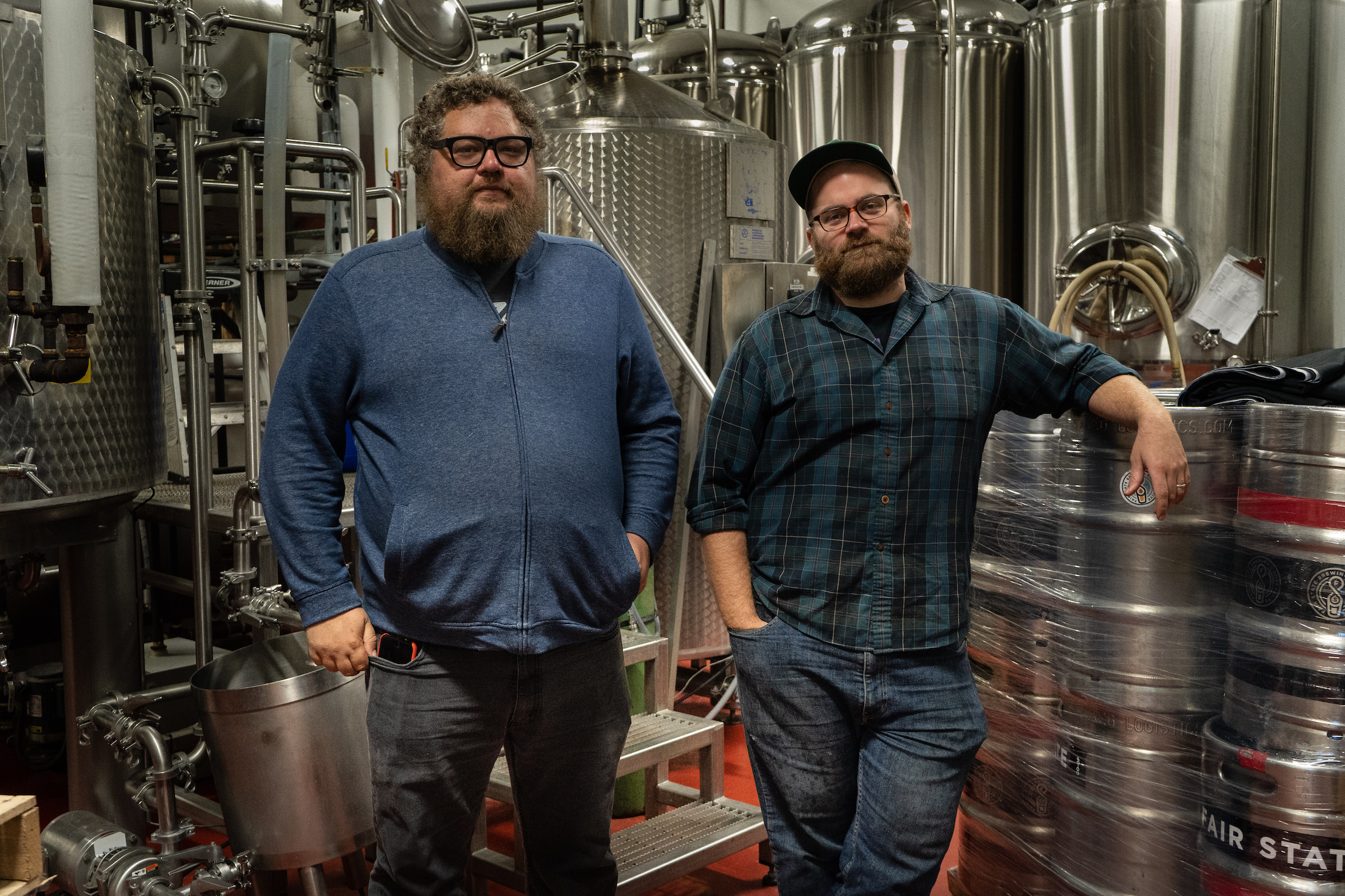 Fair State's new director of brewing operations Jerrod Johnson (left) joins Fair State head brewer Niko Tonks (right) // Photo via Fair State Brewing Cooperative's website