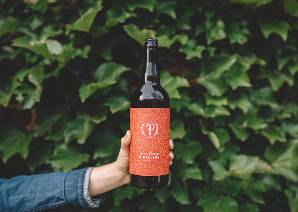 Pryes Brewing Company's Blood Orange Miraculum // Photo courtesy Pryes Brewing Company