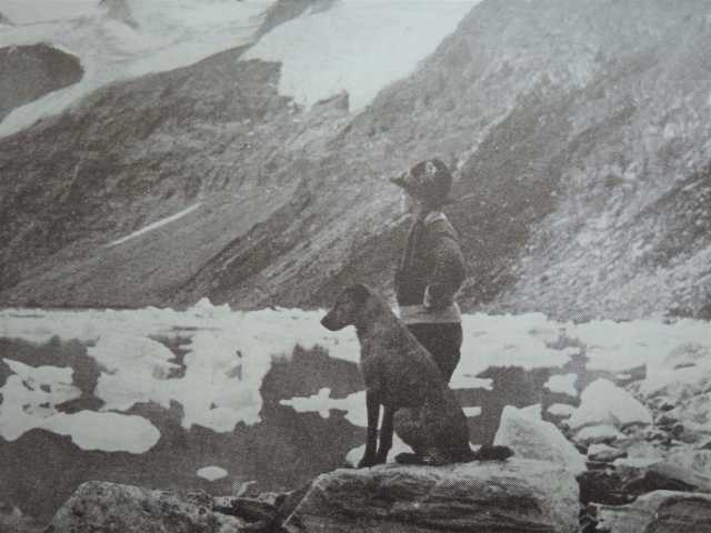Johnstone Best at Lake of the Hanging Glaciers near Windermere, British Columbia, Canada circa 1923 // Photo by Audrey Shippman, via personal collection of Cheryl Jacklyn-Piraino, Minnesota Historical Society