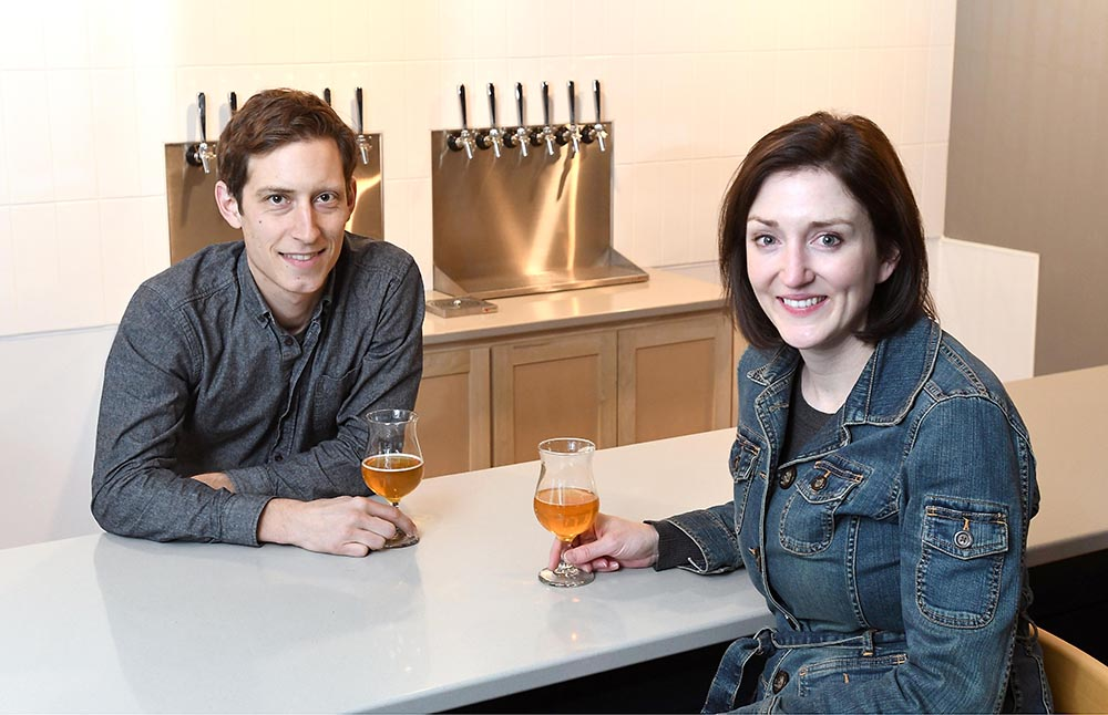 Jim and Lauren Parejko of LocAle Brewing Company // Photo by Pat Christman
