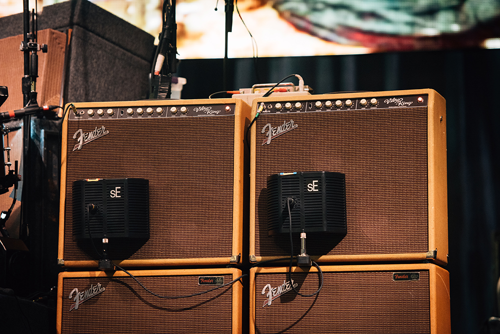 Amplifiers with pickups attached // Photo by Nate Ryan, MPR