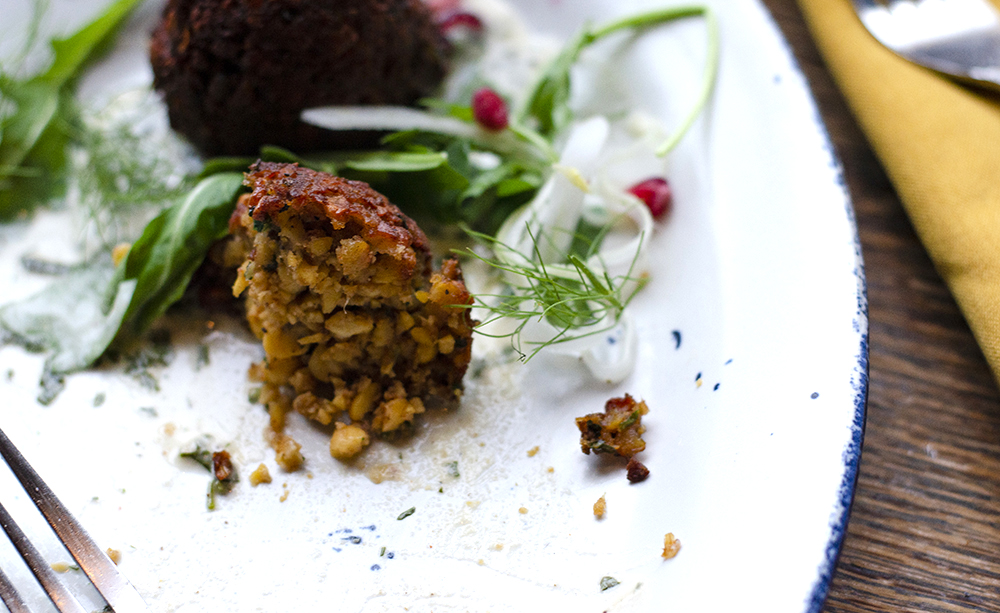 Yellow Pea Falafel at Fig + Farro // Photo by Aaron Job