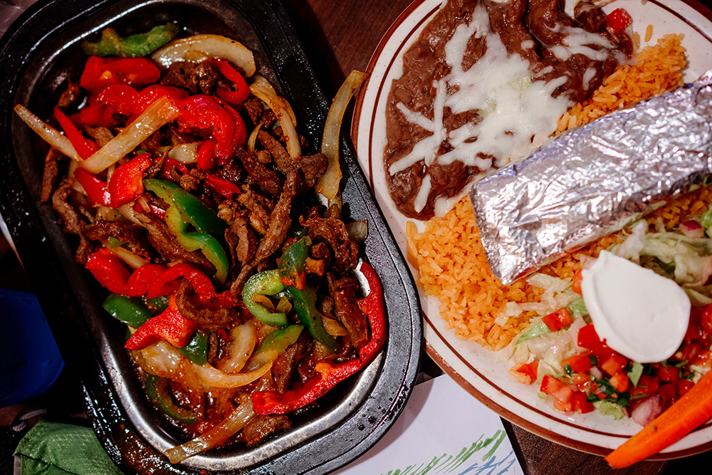 The Steak Fajitas at Jacky's // Photo by Becca Dilley