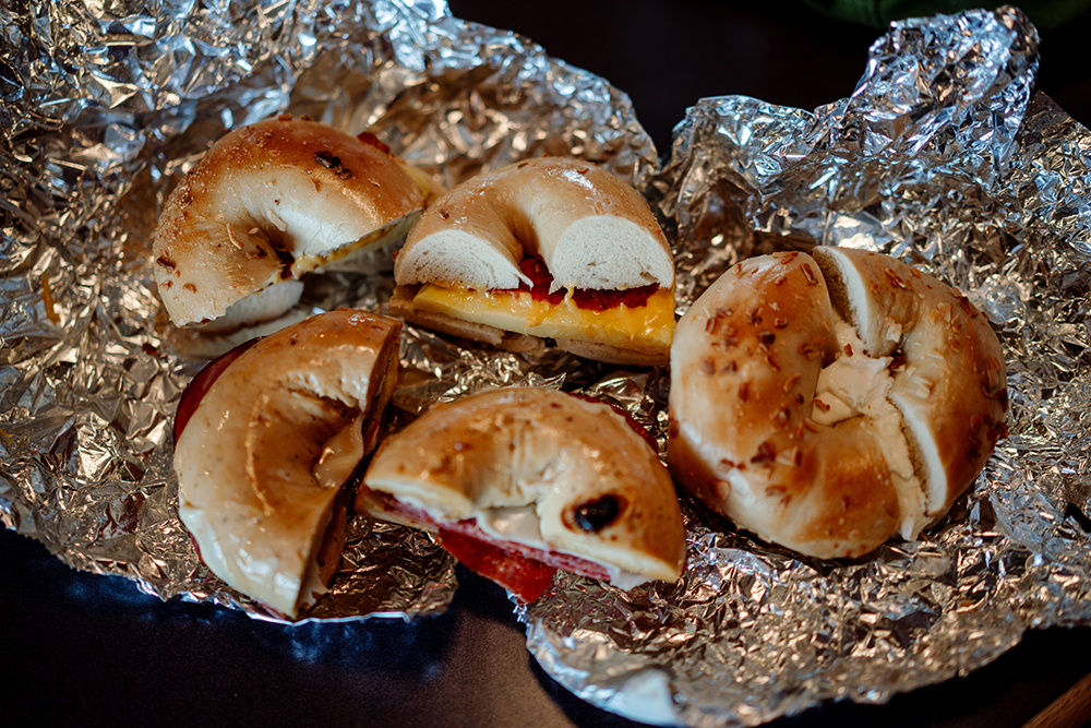 Various sandwiches at Bagel Boy // Photo by Becca Dilley