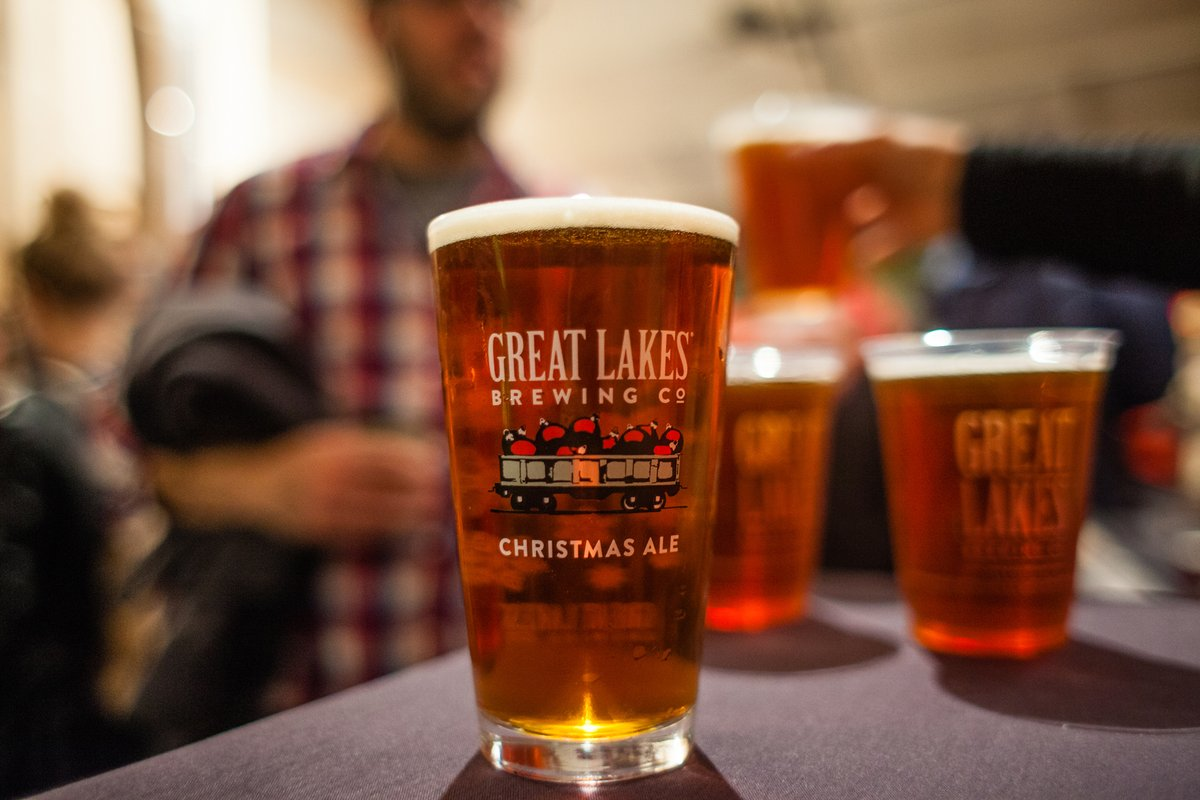 Great Lakes Brewing Company's Christmas Ale // Photo via Great Lakes Brewing Company Twitter