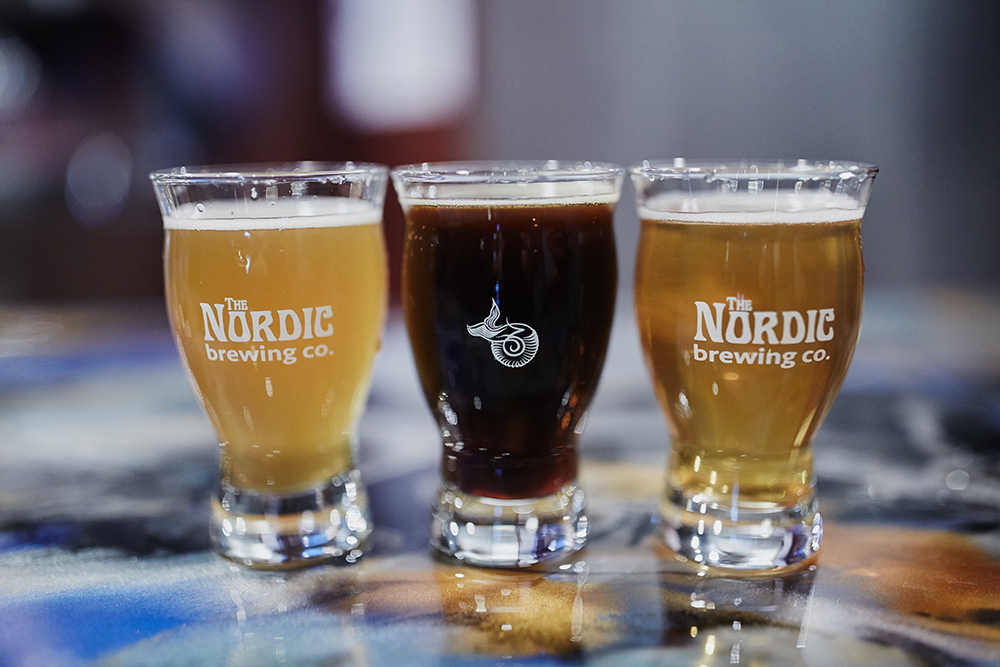 The Nordic Brewing Company's My Pandy, Sail Brown Bay and Cream Ale // Photo by Cordelia Haugen