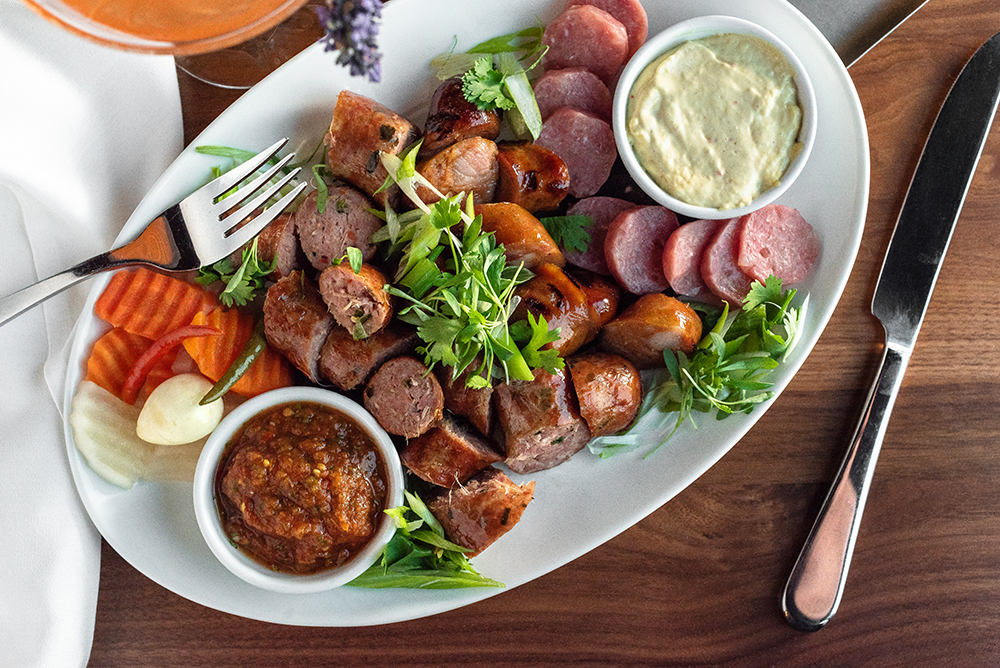 The sausage platter // Photo by Kevin Kramer
