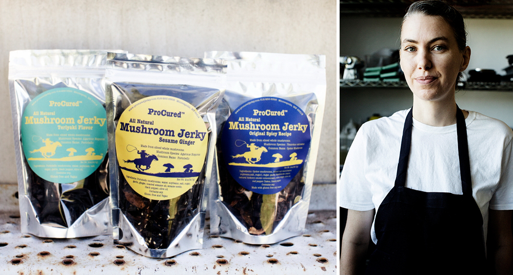 Jessica Olson is the force behind ProCured Mushroom Jerky // Photos courtesy ProCured Mushroom Jerky