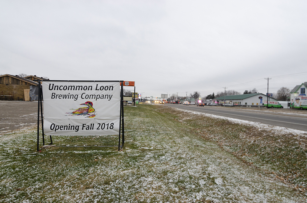 The brewery's sign, off of Highway 8 in Chisago City, Minnesota // Photo by Aaron Job