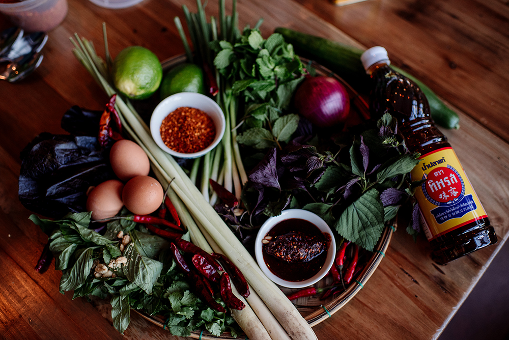The ingredients for Omelette Larb // Photo by Becca Dilley