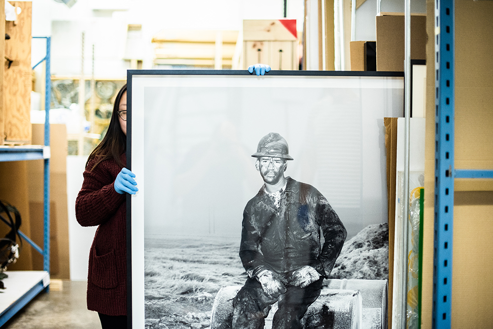 """Mai Vang presents a photograph titled """"Brian Williston, North Dakota"""" by Alec Soth // Photo by Kevin Kramer"""