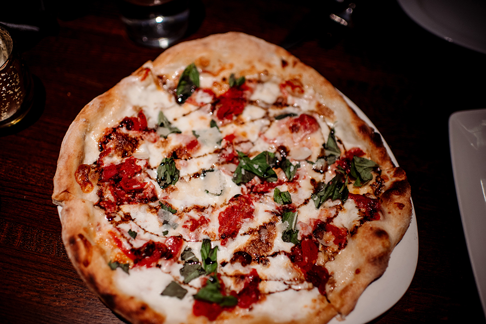 Margherita Pizza at The Dough Room // Photo by Becca Dilley