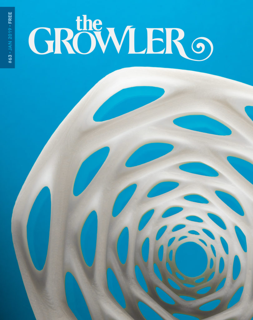 The Growler Issue 63 cover art, created by Brad Jirka // Photo by Tj Turner
