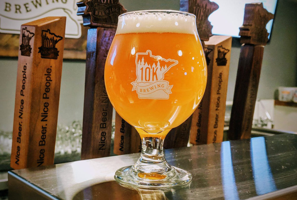 10K Brewing Company's Sticky Timber // Photo via 10K Brewing Company Twitter