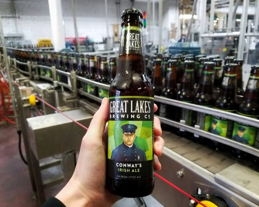 Great Lakes Brewing Co Conway's Irish Ale // Photo via Great Lakes Brewing Co Twitter