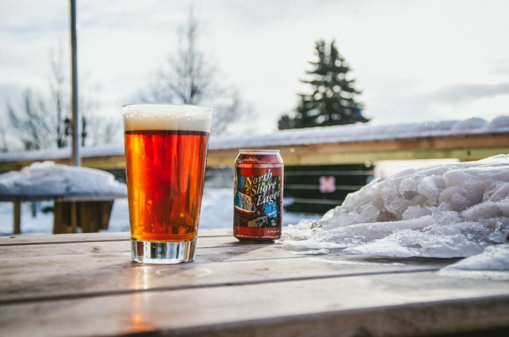 Castle Danger Brewing Company's North Shore Lager // Photo via Castle Danger Brewing Company Twitter