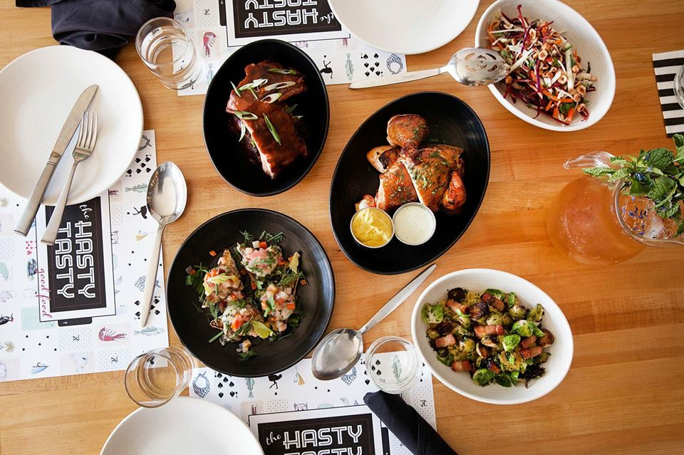 An assortment of dishes from The Hasty Tasty // Photo via The Hasty Tasty Facebook