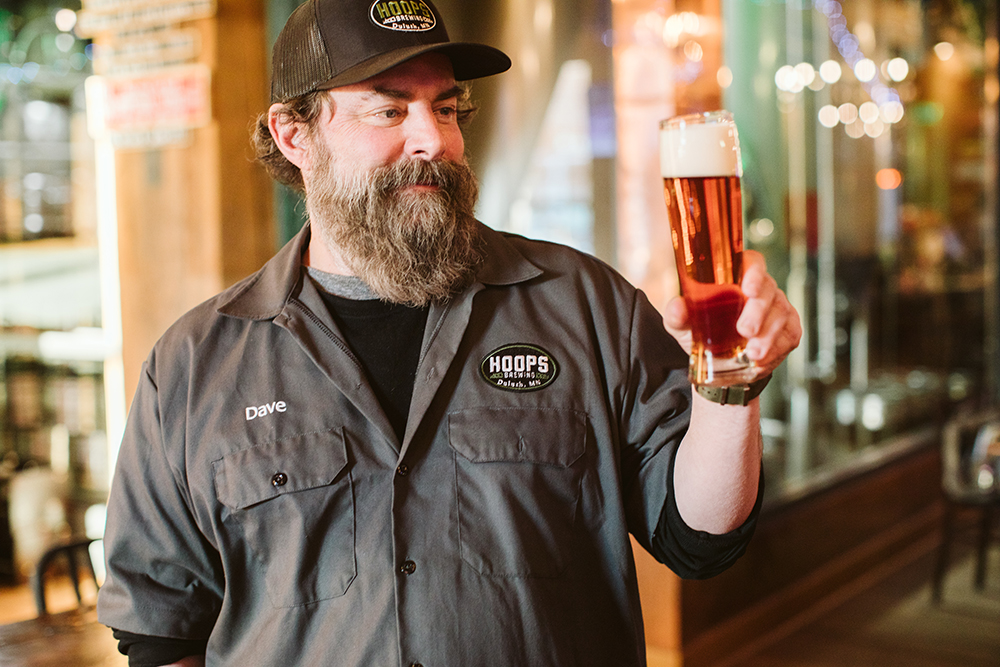Dave Hoops, the owner and head brewer of Hoops Brewing in Duluth, Minnesota // Photo by JaneCane Photography