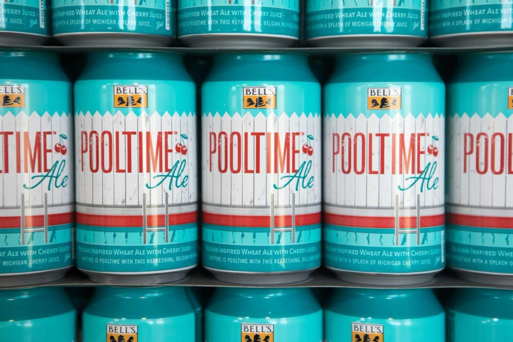 Bell's Brewery Pooltime Ale // Photo via Bell's Brewery Twitter