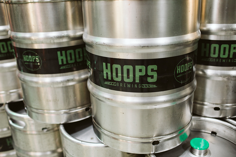 Kegs at Hoops Brewing in Duluth, Minnesota // Photo by JaneCane Photography