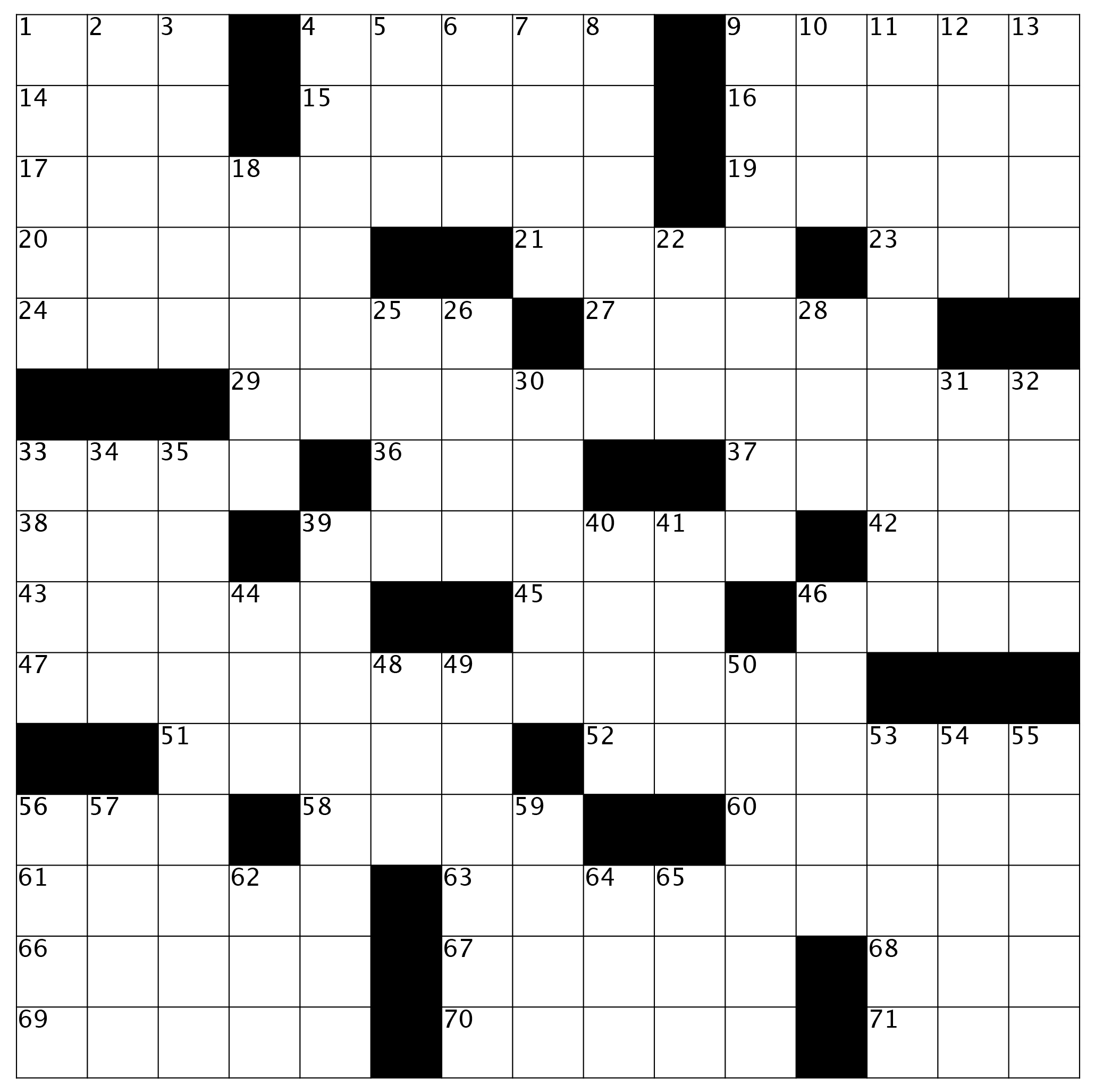 Crossword Puzzle: Issue 64 - February 2019 -