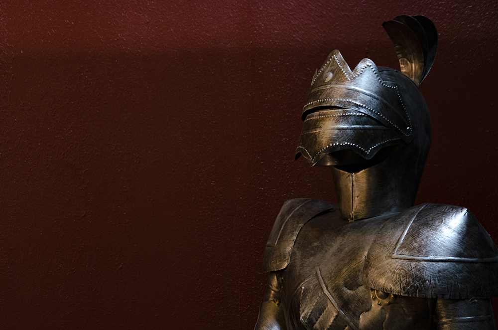 A suit of armor stands in one of the corners of Under Pressure Brewing Company's taproom in Golden Valley // Photo by Aaron Job
