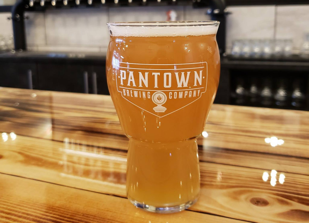 Pantown Brewing Company's Reveille Grapefruit Wheat beer // Photo via Pantown Brewing Company Facebook