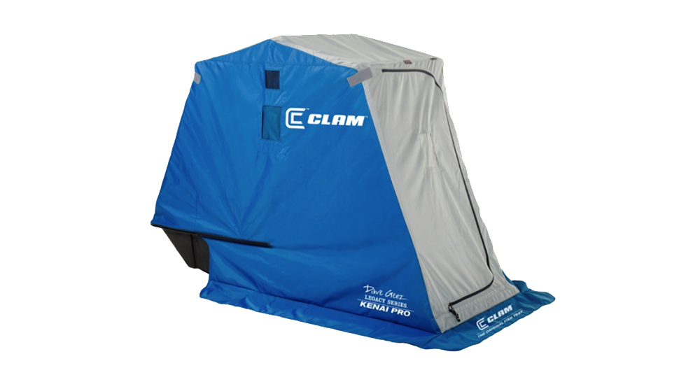 Clam Outdoors' Kenai Pro Ice Shelter // Photo via Clam Outdoors website