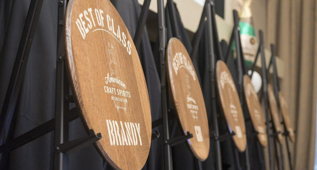 Best of Class awards from the 2019 American Craft Spirits Awards Show // Photo via American Craft Spirits Association's Instagram