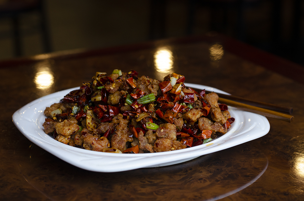 The Chef's Special Dry Chili Chicken at Lao Sze Chuan // Photo by Aaron Job