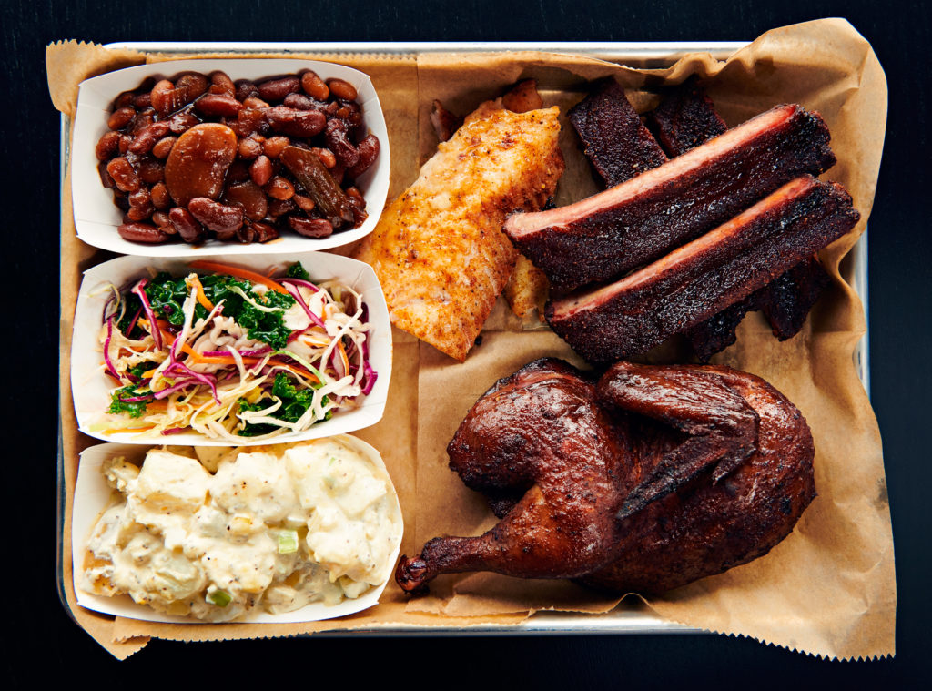 A three meat platter from Beast BBQ // Photo via Beast BBQ Website