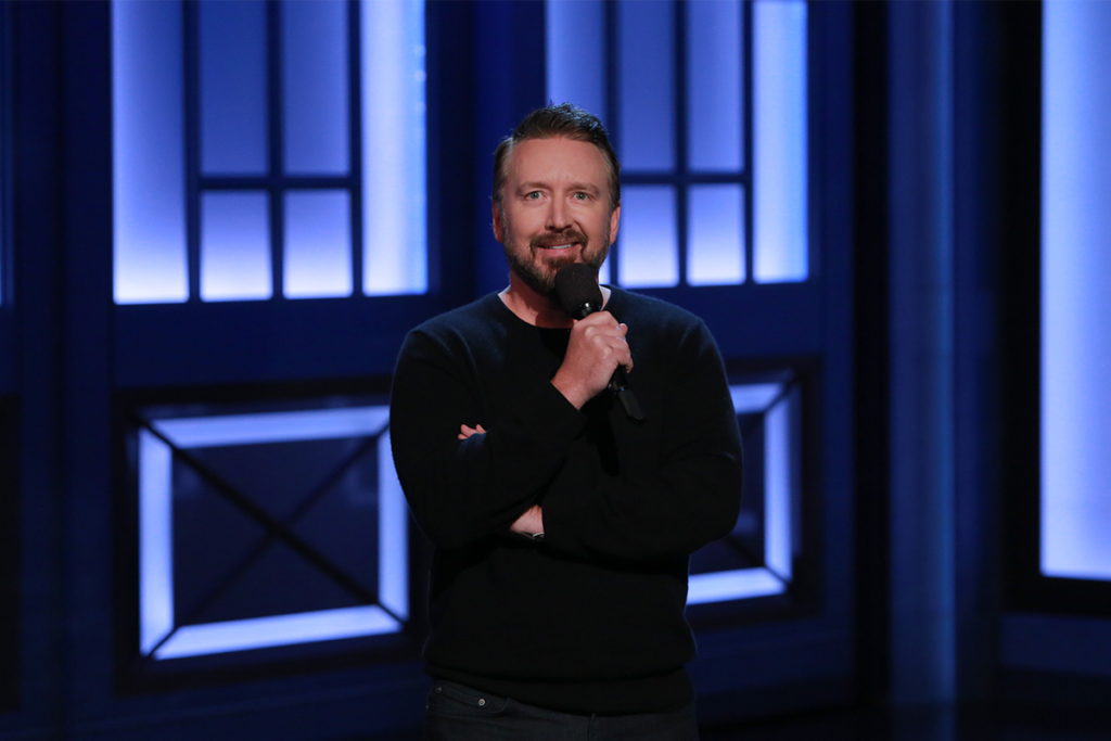 Chad Daniels on his recent Conan appearance // Photo courtesy Chad Daniels