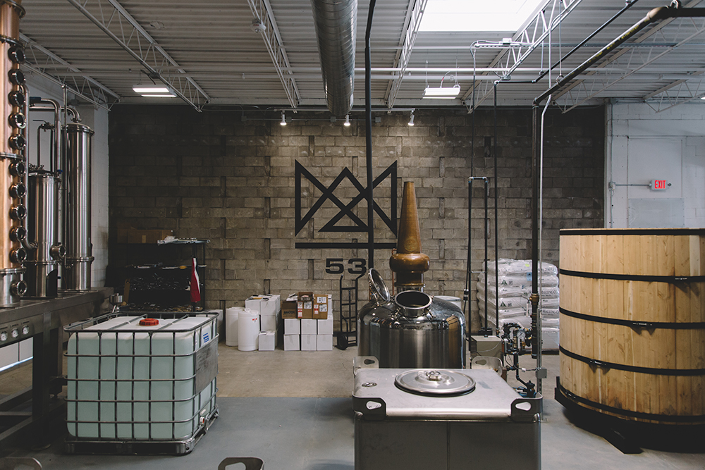 The distilling area of Royal Foundry // Photo by Sam Ziegler