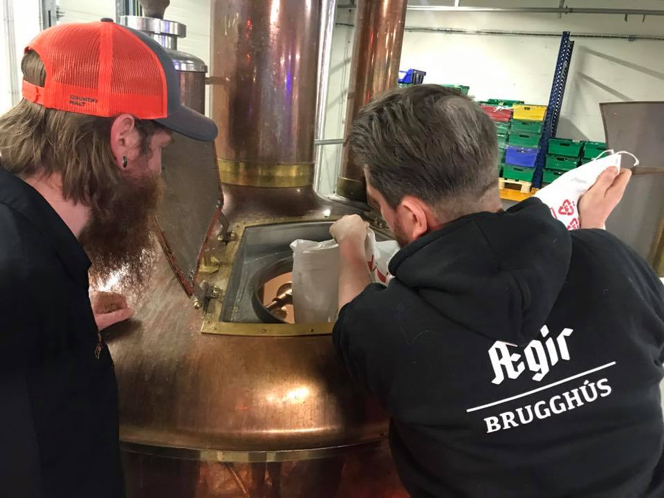AEGIR Brewing collaborated with an Icelandic brewery // Photo courtesy of AEGIR Brewing
