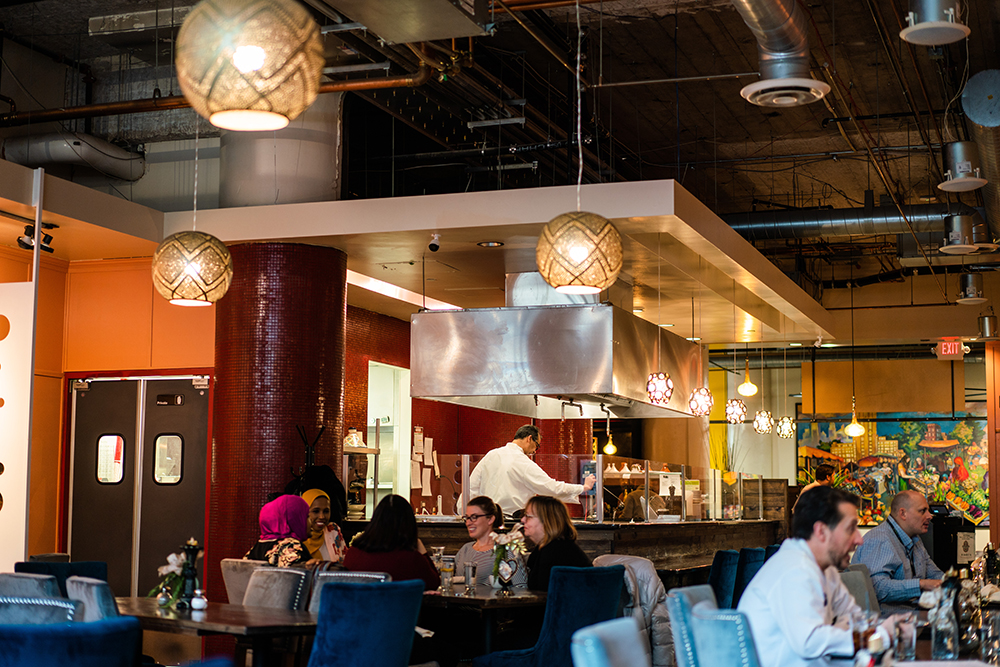 The dining area of Ziadi's Mediterranean Cuisine // Photo by Becca Dilley