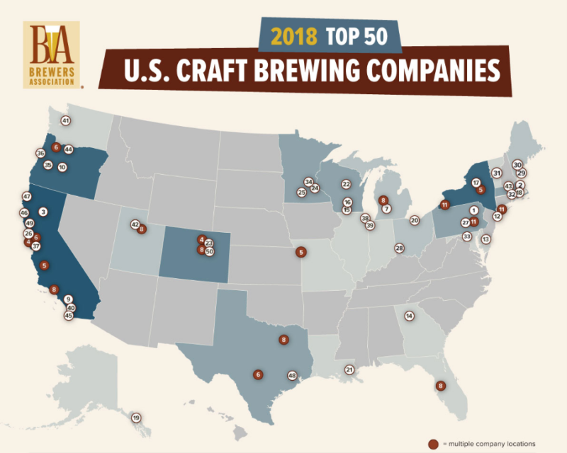 Three Minnesota Breweries Among The Top 50 In The Us - Minnesota-in-us-map