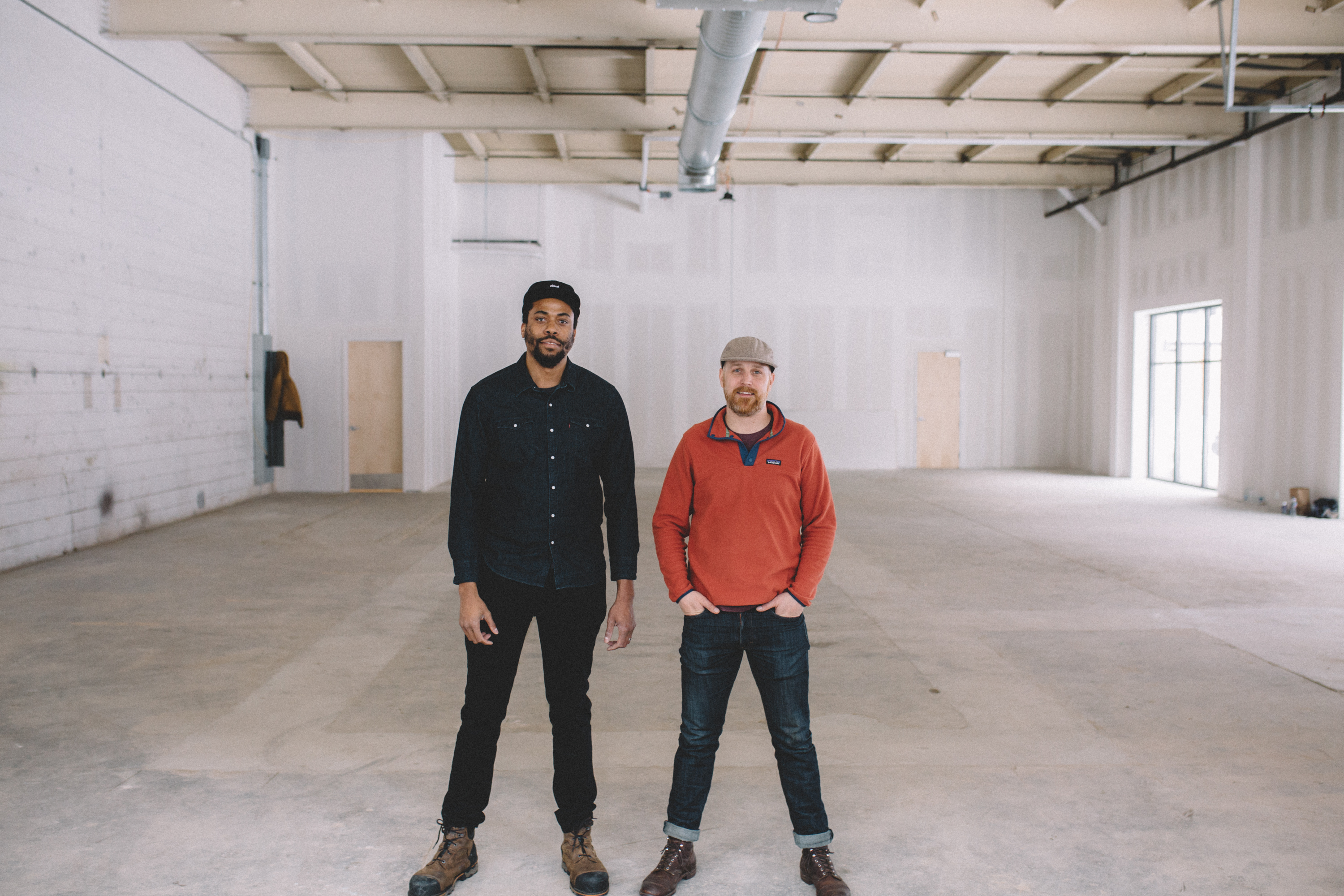 Ramsey Louder left) and Joseph Alton right), cofounders of ONE Fermentary and Taproom in Minneapolis North Loop // Photo by Sam Ziegler