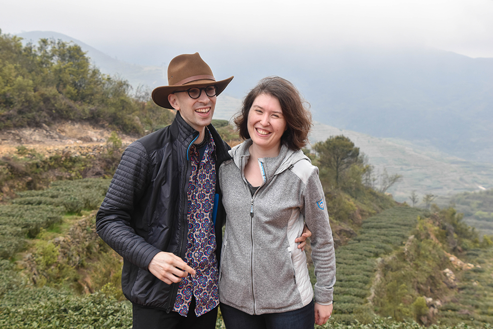 David and Lily Duckler on a tea plantation in Daping Village, China // Photo courtesy Verdant Tea