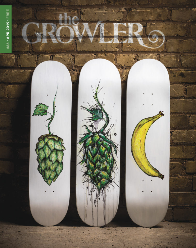 The Growler Magazine's Issue 66 cover art // Art by Mark Rivard, photo by Tj Turner