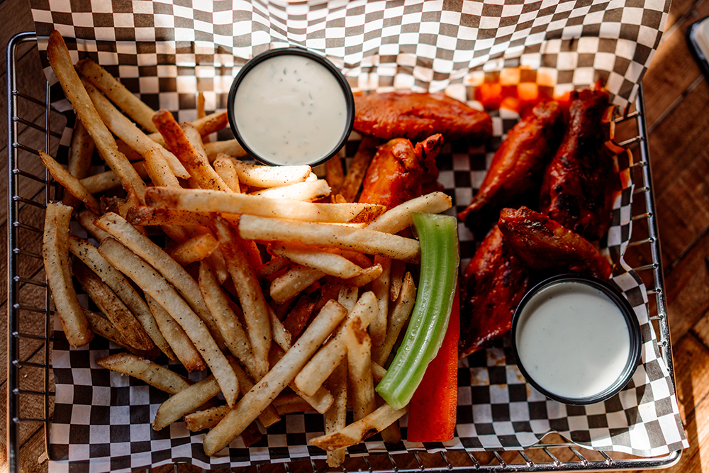 The Buffalo BBQ Wings from the Garage Bar in Waconia, Minnesota // Photo by Becca Dilley