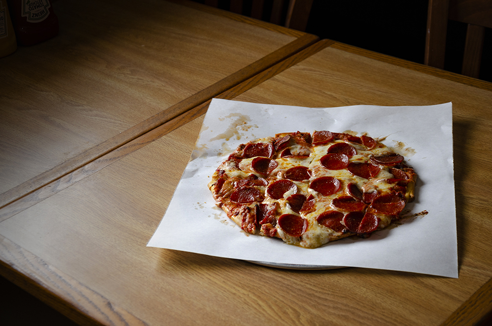 "The 10"" Pepperoni Pizza at Michael''s Pizza // Photo by Aaron Job"