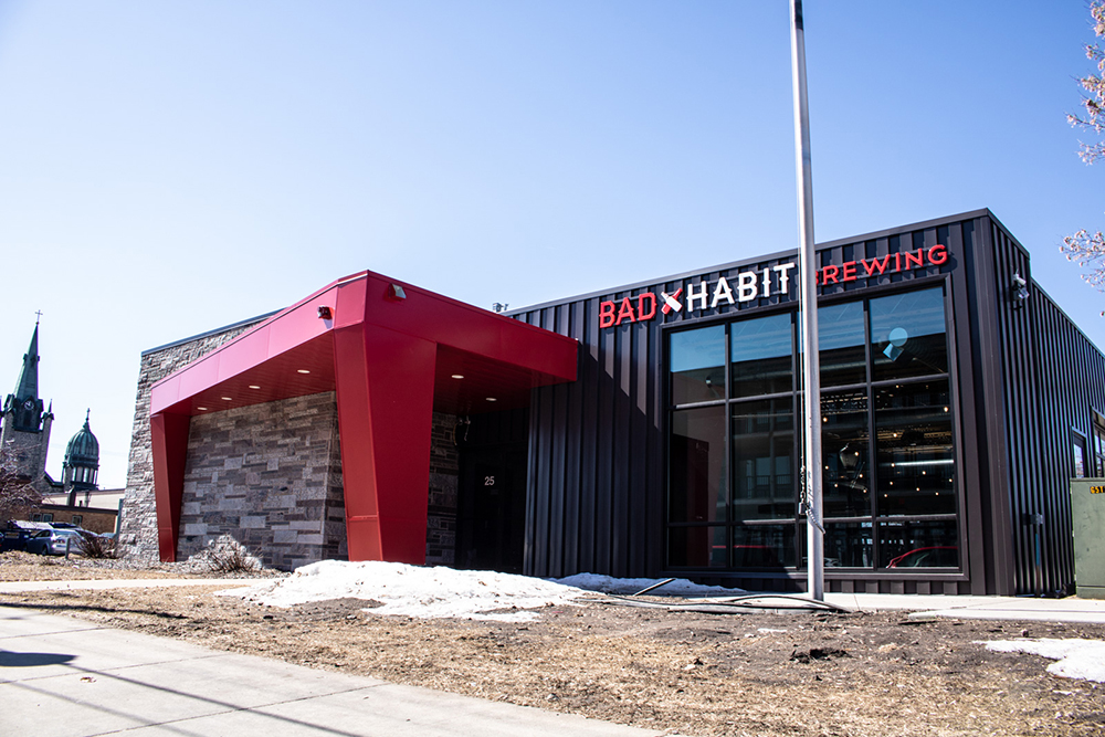 Bad Habit Brewing Company's new taproom in St. Joseph, Minnesota // Photo by Adam Rozanas, Ale Adventures