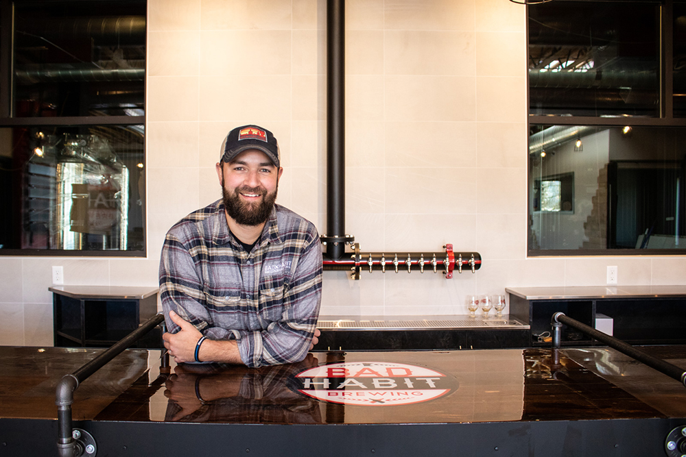 Aaron Rieland, founder of Bad Habit Brewing // Photo by Adam Rozanas, Ale Adventures
