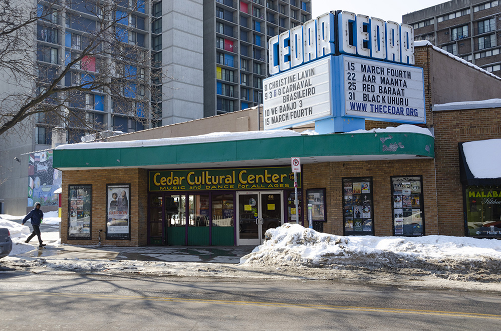 The Cedar Cultural Center, which still shows Phil's work // Photo by Aaron Job