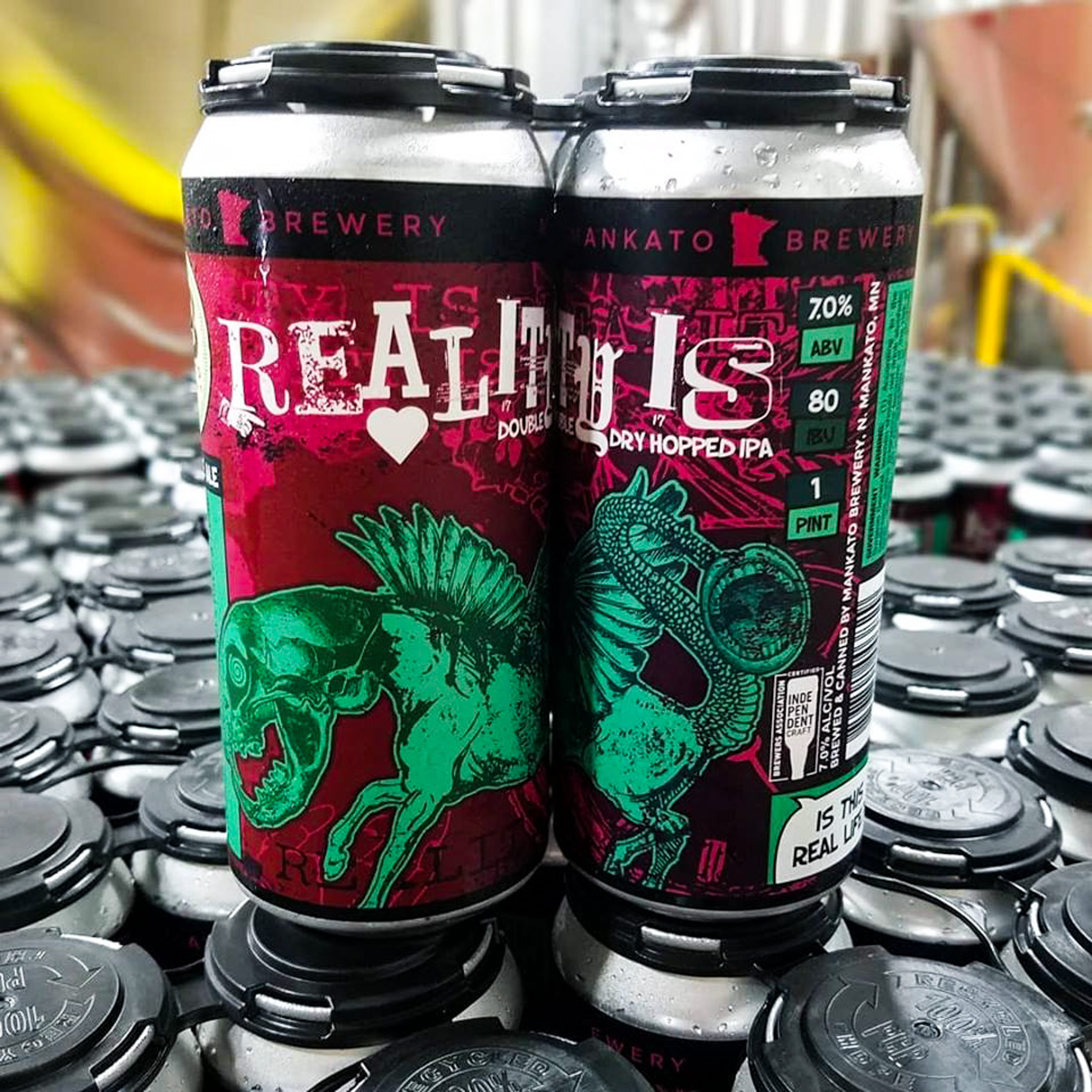 Reality Is the new Double Dry Hopped IPA from Mankato Brewing // Photo via Mankato Brewing's Facebook