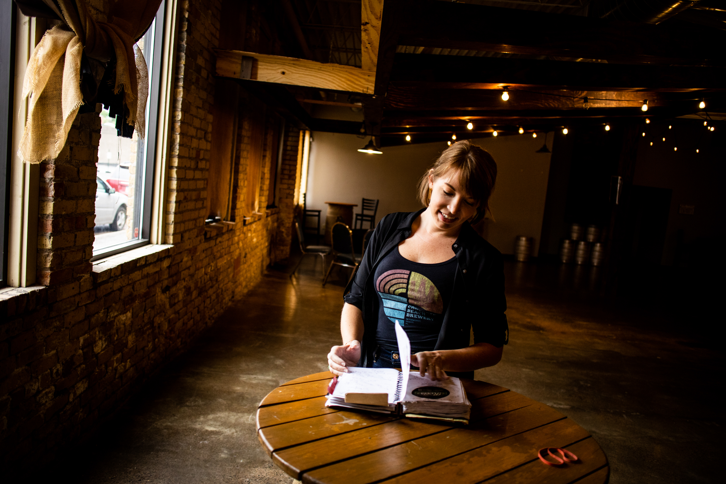 Liz Foster documented 120 trips to various breweries in her beer journal // Photo by Tj Turner