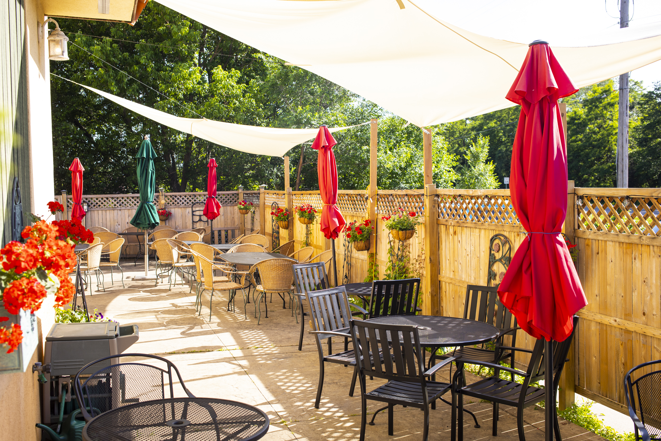 Mama Maria's patio in Hudson, Wisconsin // Photo by Tj Turner