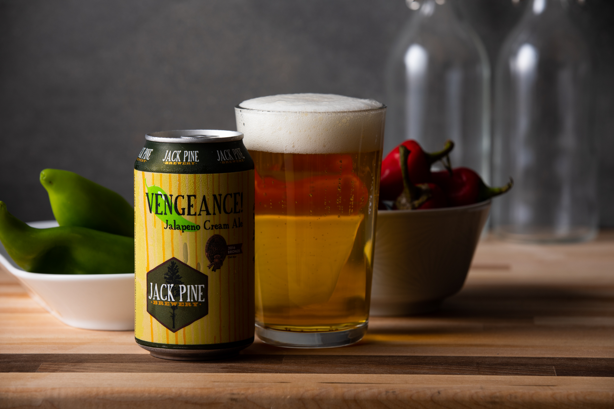 Jack Pine Vengeance Cream Ale // Photo by Tj Turner