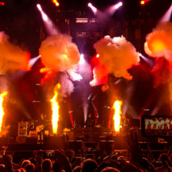 Blazes of Glory: Pyrotechnic designers and engineers add fiery drama to the concert experience